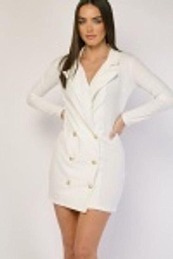 WHITE MINI BLAZER DRESS