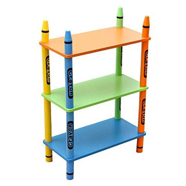 HALF PRICE! Crayon 3 Tier Childrens Shelving Unit