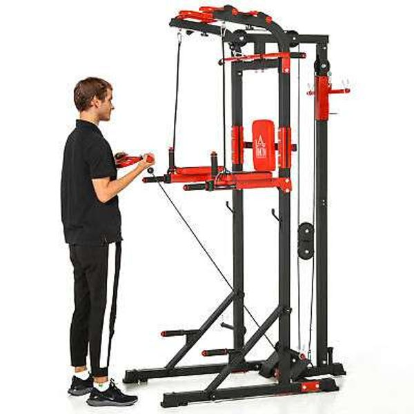 Save 30% - Power Tower Adjustable Height Pull Up&Push Up&Dip Station,Home Fitness Exercise