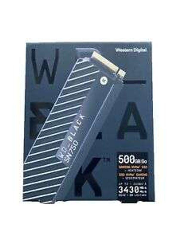 WD Black 500GB SN750 NVMe High-Performance Gaming SSD with Heatsink 5y Warranty