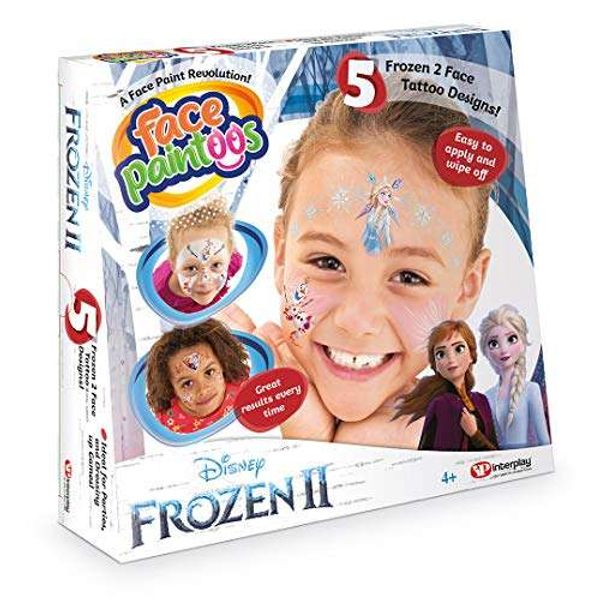 Save 48% - Face Paintoos FP201 Disney Frozen II (Temporary Face Paint Tattoos)