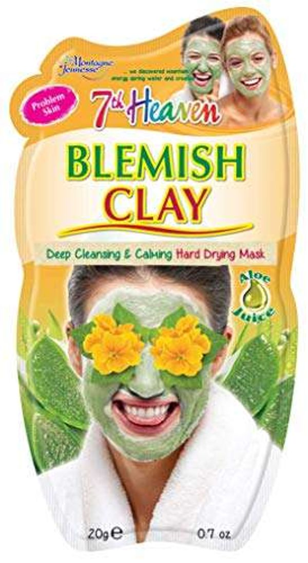 Save 46% - 7th Heaven Blemish Clay Hard Drying Face Mask with Witch Hazel and Aloe Vera Juice to Deeply Cleanse and Calm Skin - Ideal for Problem Skin