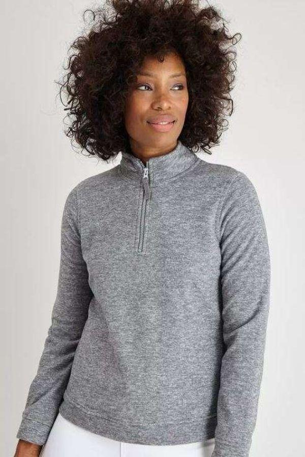 Grey Marl Half-Zip Fleece - 14 £5 + £3.95 del at Argos