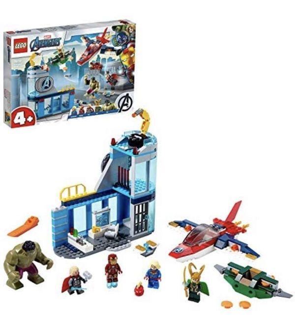 LEGO 76152 Marvel 4+ Avengers Wrath of Loki Set, Super Heroes Series with Iron Man & Hulk Figure