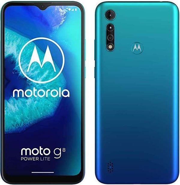 Save £15.07 - Motorola Moto G8 Power Lite Smartphone 64GB Unlocked - Arctic Blue A
