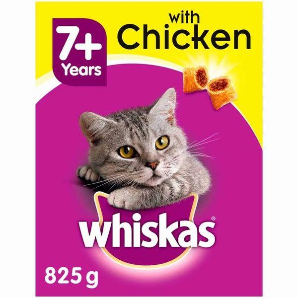 Whiskas Senior Chicken Flavour Dry Cat Food 825g