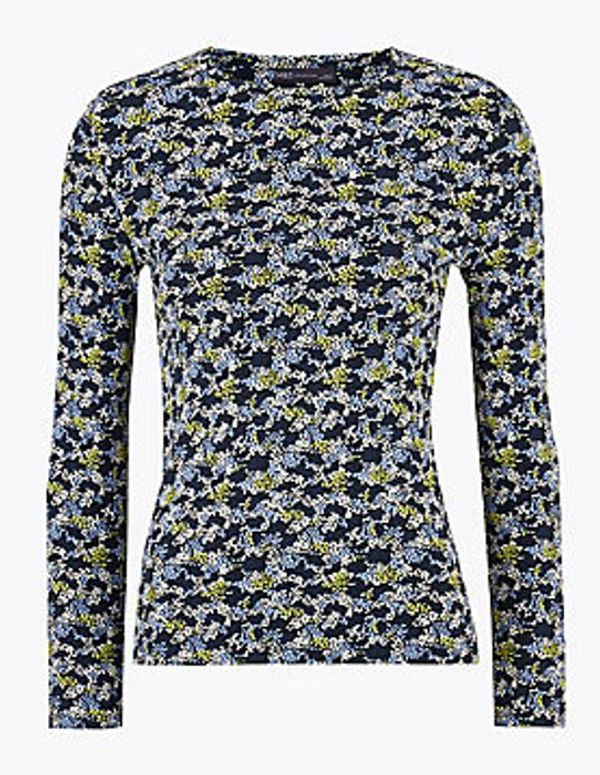 Pure Cotton Floral Regular Fit Top