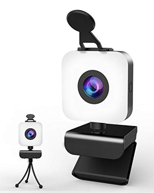 Save £6.00 - MHDYT Webcam for PC, 1080P Full HD webcam with microphone for PC/Desktop/Laptop, USB web cam with Tripod and Privacy Cover for Zoom, YouTube, Skype, Video Calling, Conferencing, Online Learning