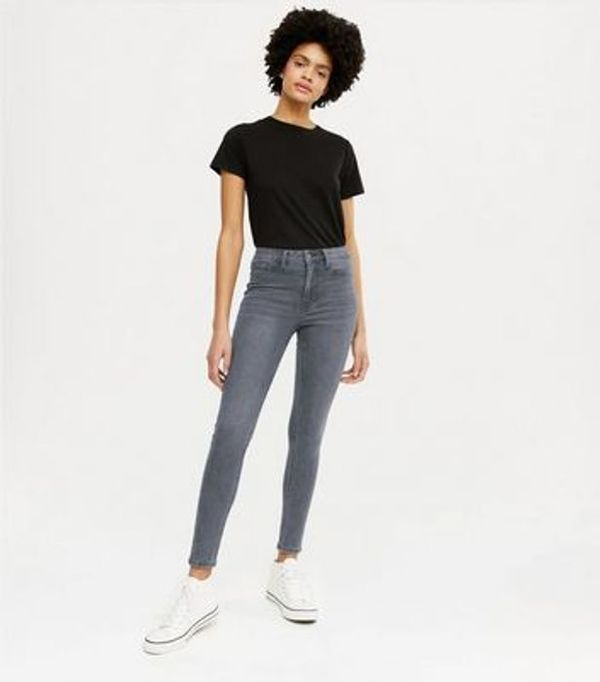 Dark Grey Mid Rise India Super Skinny Jeans
