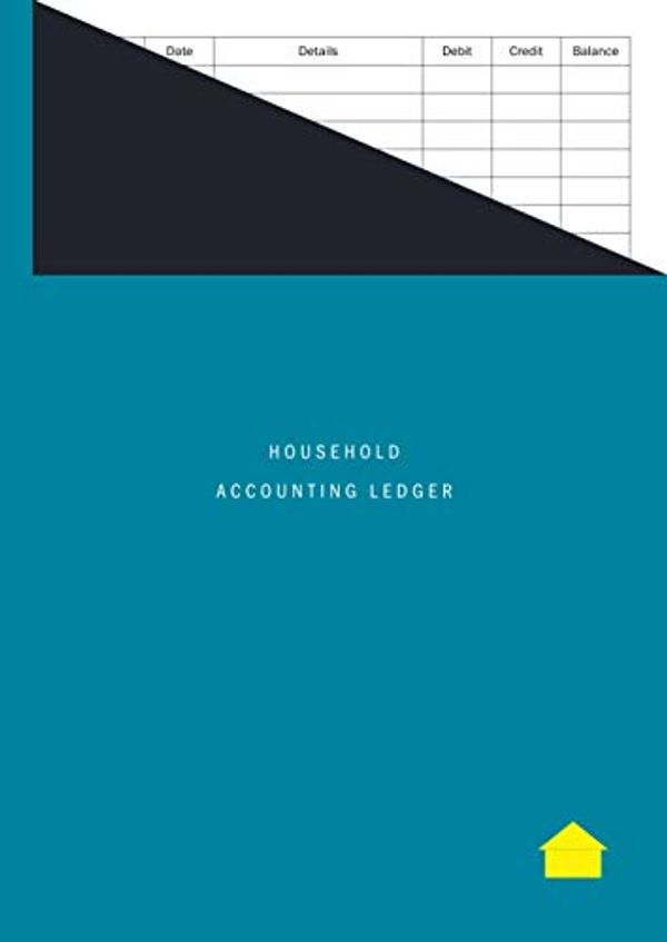 Household Accounting Ledger: Large Format / Easy Read, Simple Debit and Credit Home Accounts Book