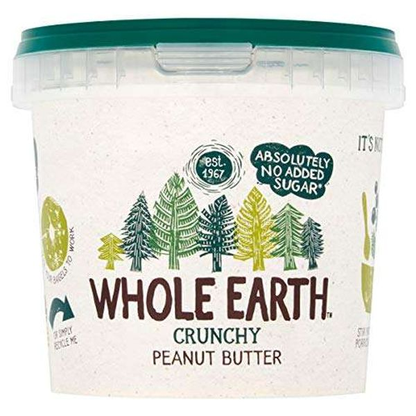 Whole Earth Original Crunchy Peanut Butter, 1 Kg (Pack of 2)