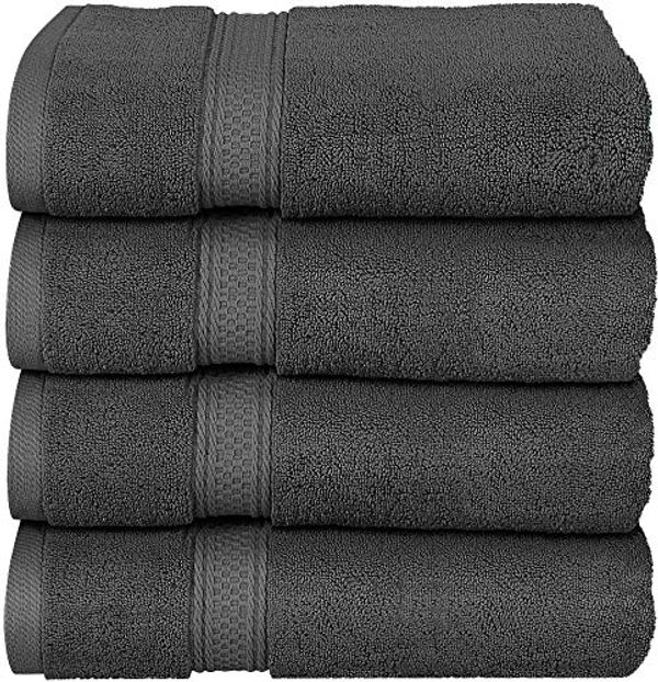 Utopia Towels - Grey Bath Towels Set, 4 Pack - Premium 600 GSM 100% Ring Spun Cotton - Quick Dry, Highly Absorbent, Soft Feel Towels, Perfect for Daily Use