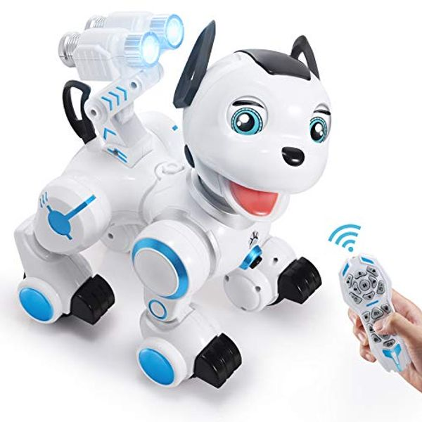 ANTAPRCIS Remote Control Robot Dog Toy - RC Interactive Intelligent Walking Dancing Programmable Robot Gift for Kids