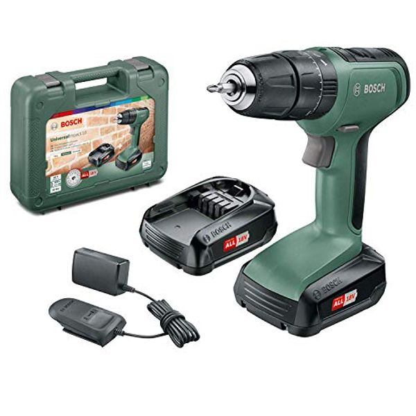 Save 33% - Bosch Cordless Hammer Drill UniversalImpact 18 (2x Batteries, 18 Volt System, in Carrying Case)