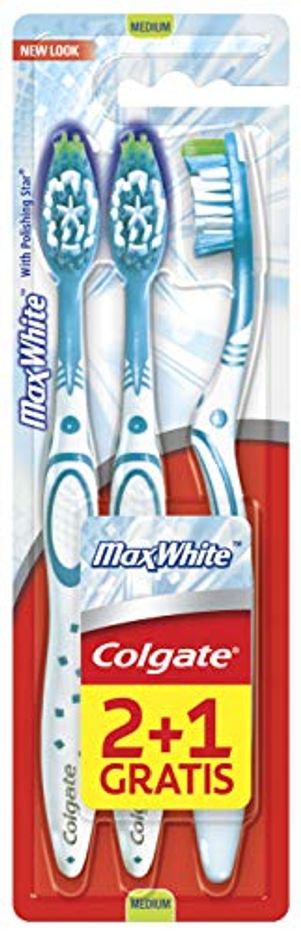 HALF PRICE! Colgate Max White Medium Toothbrush x3