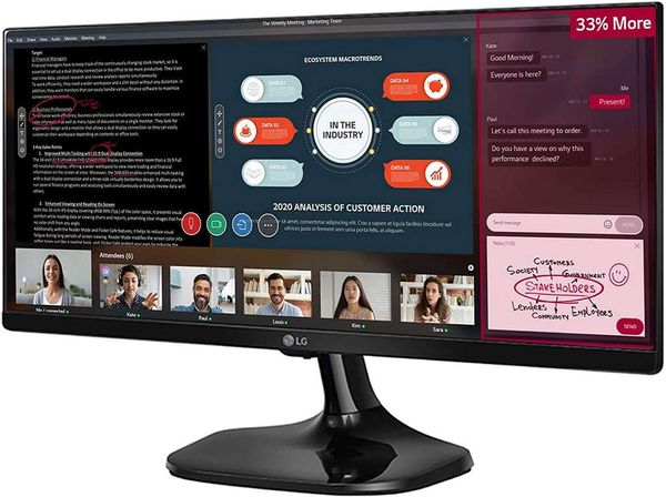 LG UltraWide 25UM58 25-inch IPS Monitor (2560 x 1080, HDMI, 250 cd/m2, 5ms), Black