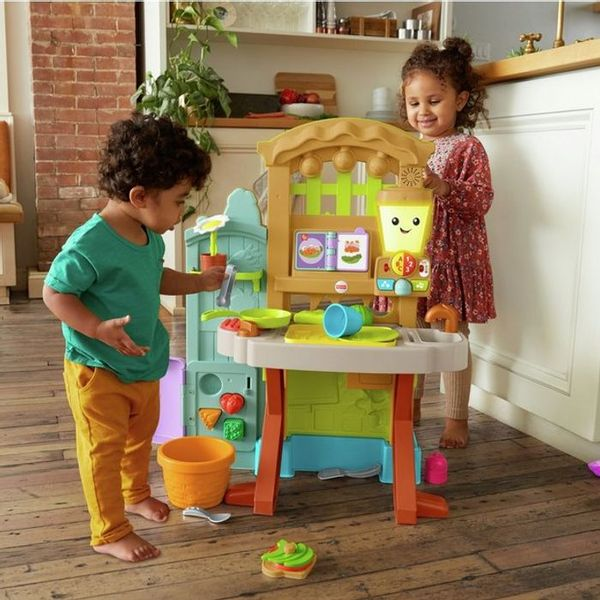 Reduced Further ! Fisher Price Laugh & Learn Grow the Fun Garden to Kitchen