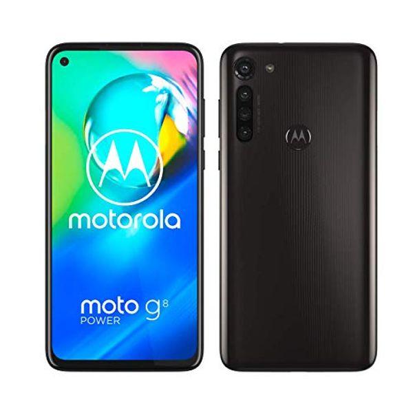 Save 37% - Motorola Moto G8 power 6.4 Inch FHD+ zero-notch display, Qualcomm Snapdragon SD665, 16MP main camera, 2MP macro camera, 5000 mAH battery, Dual SIM, 4/64GB, Android 10, Smoke Black
