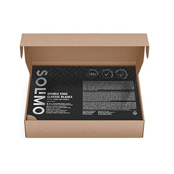 Amazon Brand - Solimo 100 double edge blades