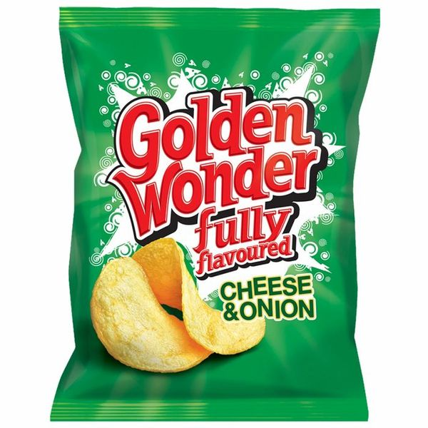 Save 36% - Golden Wonder: Cheese & Onion (Case of 48 Packs)
