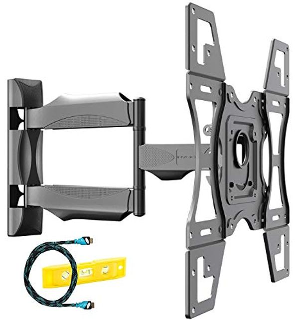 Save 35% - Invision Ultra Strong TV Wall Bracket Mount Single Arm Tilt & Swivel for 26-60 Inch LED LCD OLED 4K HDR Smart Flat & Curved Screens - Max. VESA 400x400mm - Max Load Capacity 40kg (HDTV-L)