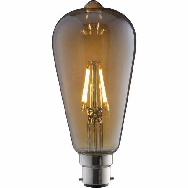 TCP 1 pack Bayonet B22/BC LED 4W 380 Lumens ST64 Vintage Filament Light Bulb