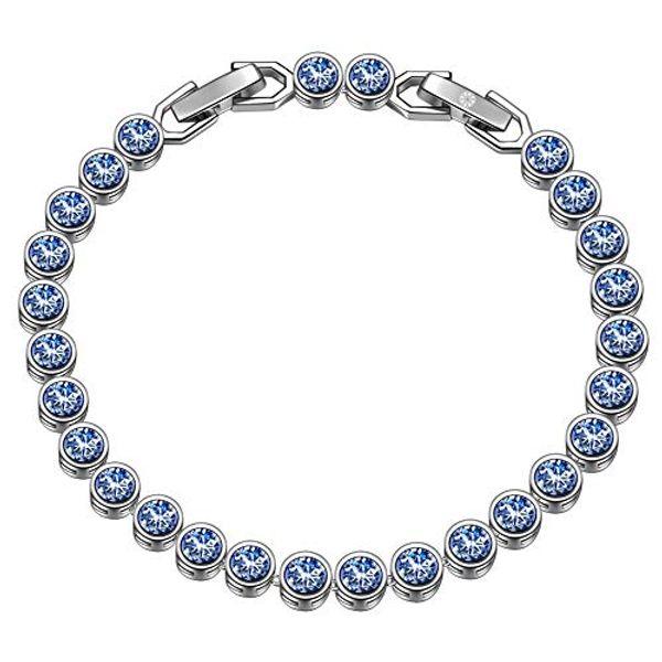 Save 44% - Susan Y Mothers Day Women Bracelets Gifts, Ocean Dream Tennis Bracelet Women Jewellery, Crystals Bracelets, Patent Design, Elegant Jewellery Gift Box, Gifts for Mom Women Girls