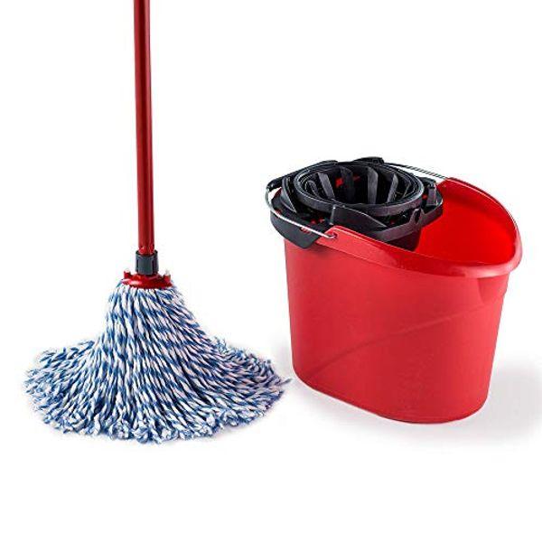 Save £0.99 - Vileda SuperMocio Microfibre and Cotton Mop and Bucket Set