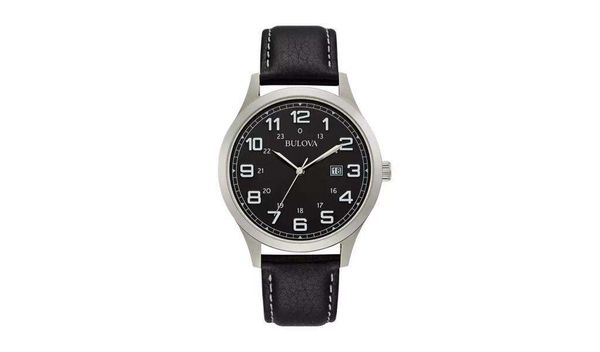 Bulova Men's Black Leather Strap Watch £29.99 + £3.95 delivery @ Argos