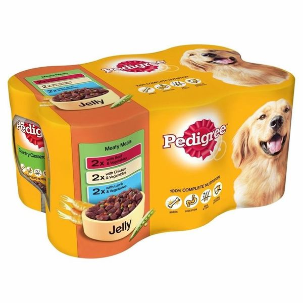 Pedigree: Meat Selection in Jelly (Case of 24 Cans)