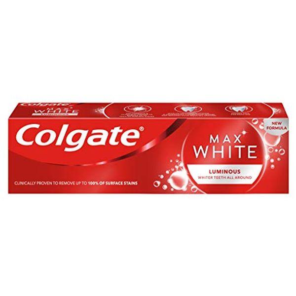 Save 62% - Colgate Max White Luminous Whitening Toothpaste, 75ml