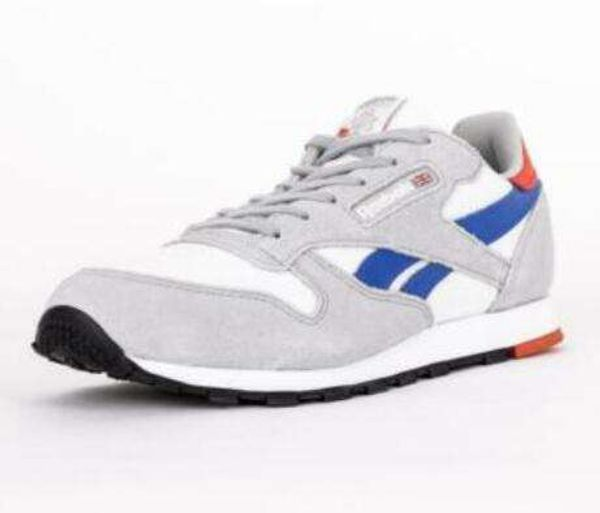 Junior Reebok Classic White/Gre/Cobalt/Red Leather Trainers (TGF53) RRP £44.99