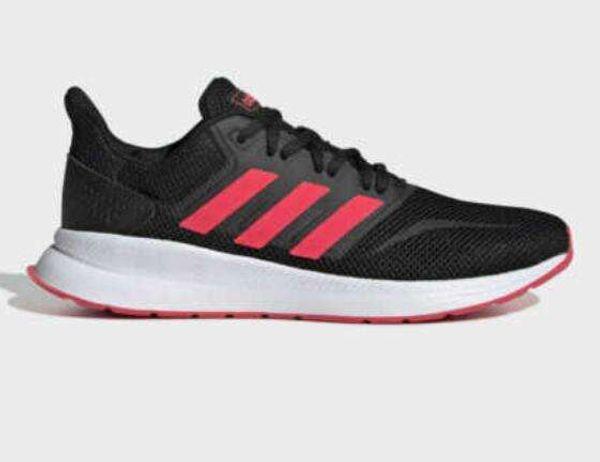 Womens Adidas Run Falcon Black/Pink Trainers (CMF12) RRP £44.99
