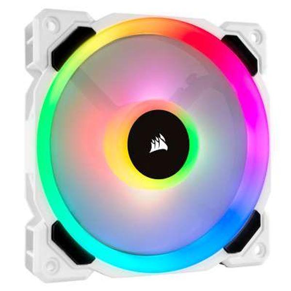 Corsair LL120 (120mm) Dual Light Loop RGB Case Fan (White)