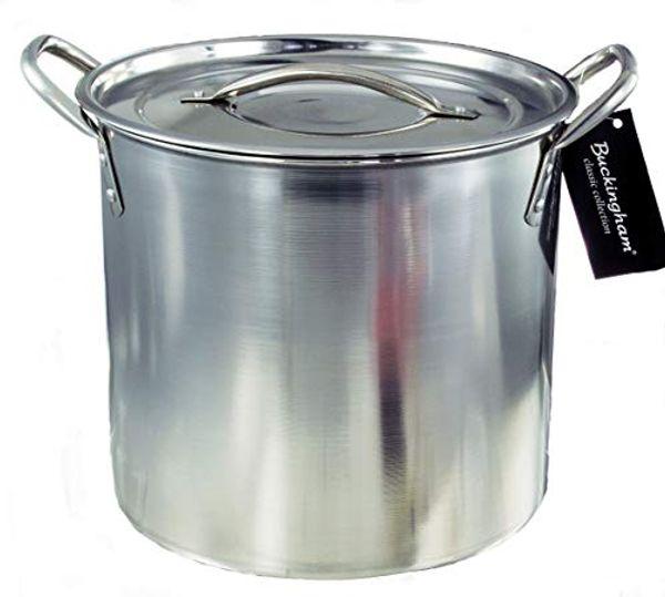 Buckingham Stainless Steel Stock Pot Home Brew Pot Cooking Pot 21 cm / 6 Litre