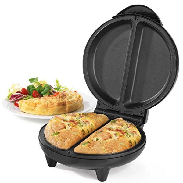 Save 20% - Salter EK2716 Non-Stick Dual Omelette Maker, 750 W , Black