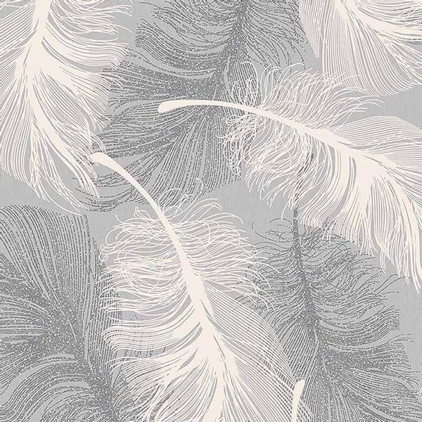 Superfresco Colours Feather Motif Wallpaper Grey