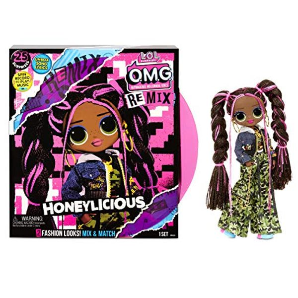 Save 25% - LOL Surprise OMG Remix - With 25 Surprises - Collectable Fashion Doll, Clothing and Accessories - Honeylicious