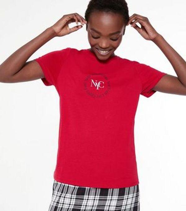 Save 78% - Red NYC Circle Logo T-Shirt