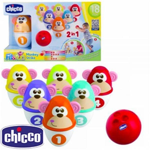 Save 40% - Chicco Fit & Fun Monkey Strike Bowling Set