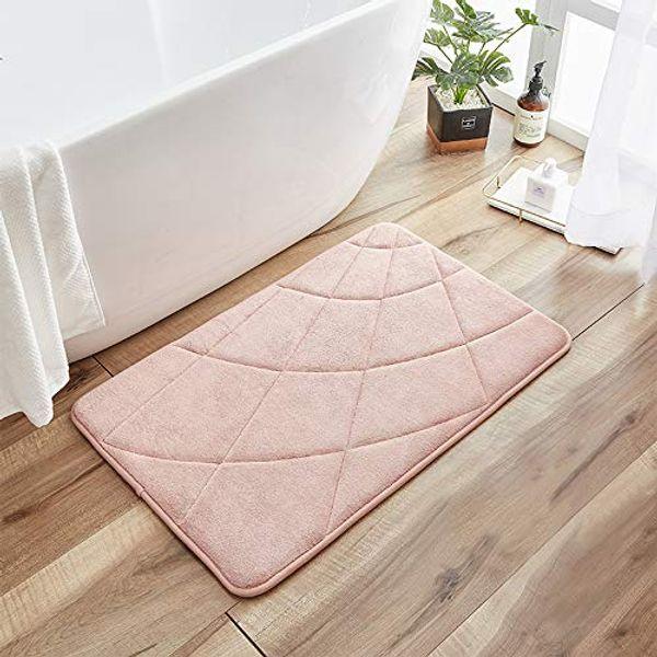 Decorus Memory Foam Bath Mat Non-Slip Bath Rug Water Absorbent Bath Mat Premium Floor Rug Cozy Machine Washable Soft and Comfortable Carpet for Bathroom Floors
