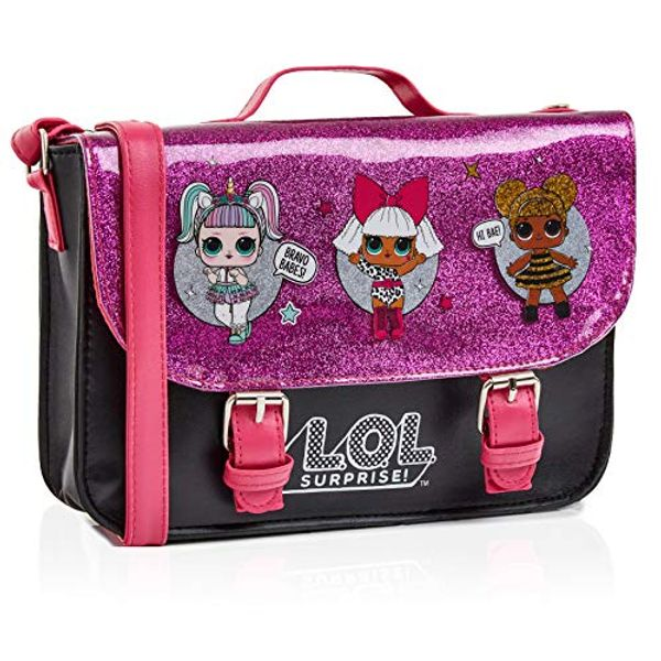 Save 21% - L.O.L. Surprise ! LOL Dolls Handbag For Girls Featuring Glitterati Doll Unicorn, Diva, Queen Bee | Black & Pink Kids Handbag Crossbody | Children Cross Body Bag | Fashion Shoulder Bags For Kids