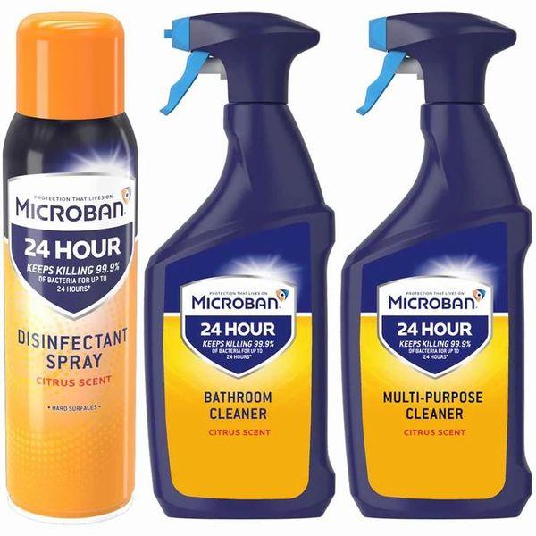 Microban Citrus Antibacterial Cleaner Bundle