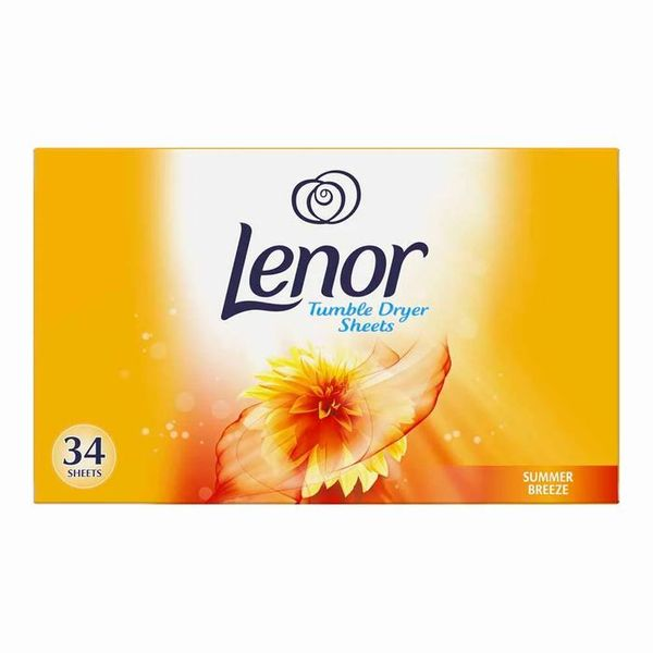 Lenor Summer Breeze Tumble Dryer Sheets 34 pack