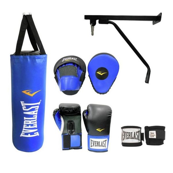 SAVE £18 Everlast Punch Bag Set 3ft - Black and Blue
