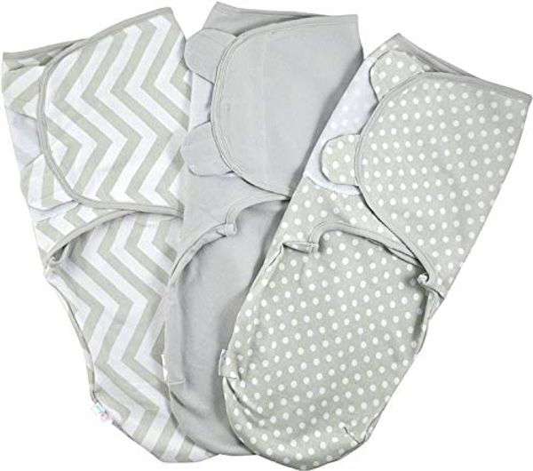 Save 39% - Baby Swaddle Wrap - Pack of 3 Swaddle Blankets - 100% Cotton - Grey