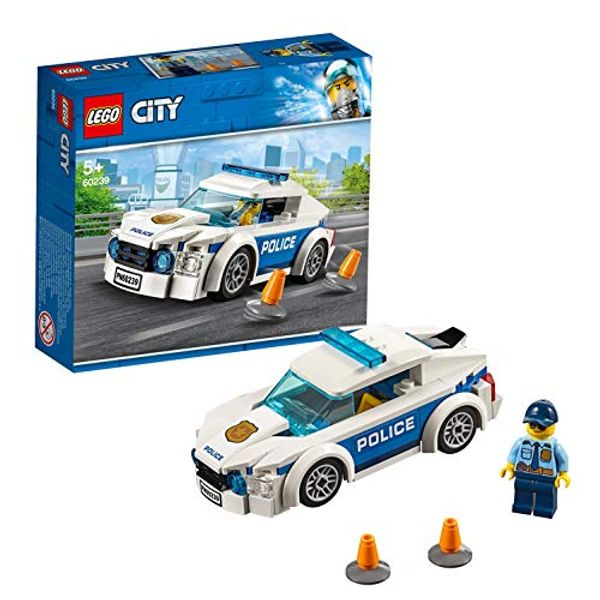 Save 20% - LEGO 60239 City Police Police Patrol Car Car Toy with Policeman Minifigure, Chase Vehicle Sets for Kids