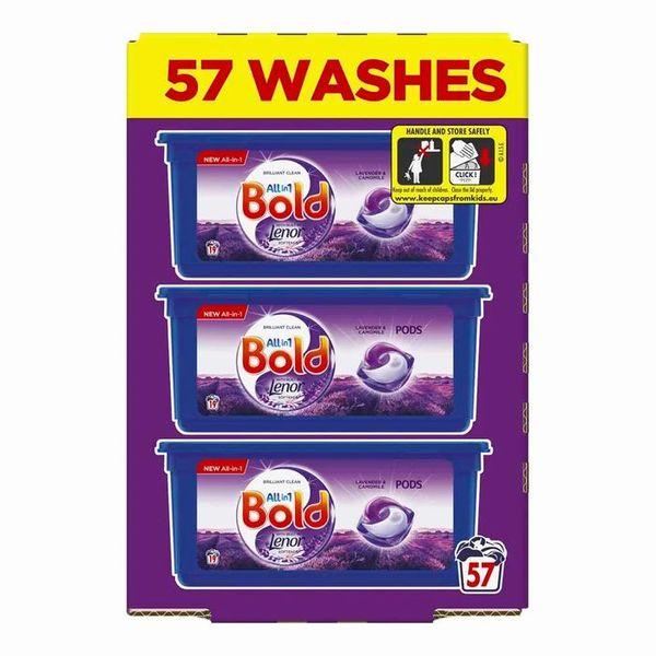 Bold AIO Lavender & Camomile Pods 57 Washes