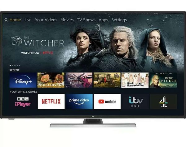 "Save £90.99 - JVC LT-55CF890 Fire TV Edition 55"" Smart 4K Ultra HD HDR LED TV Amazon Alexa"