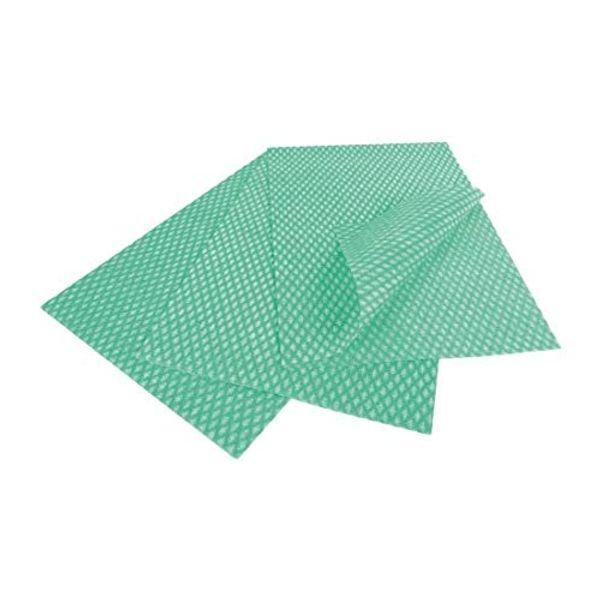 "EcoTech ELSF50G ""Envirolite"" Super Folded Cleaning Cloth, Green, Medium, Pack of 50"